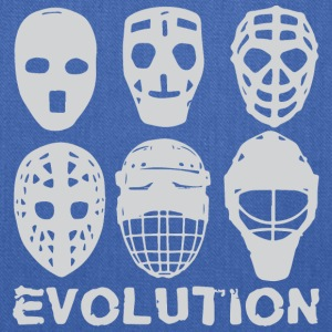 hockey goalie mask evolution - Tote Bag