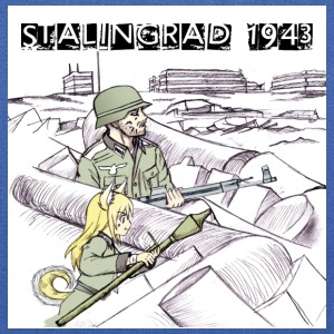 German Dog Girl Soldier at Battle of Stalingrad - Tote Bag