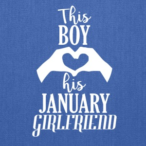 This Boy loves his January Girlfriend - Tote Bag