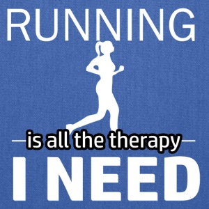 Running is my therapy - Tote Bag