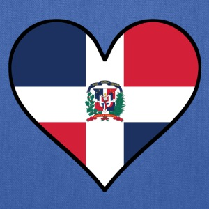 Dominican Flag Heart - Tote Bag