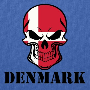 Danish Flag Skull Denmark - Tote Bag