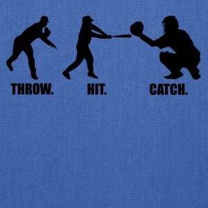 Throw Hit Catch Baseball - Tote Bag
