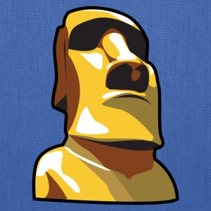 Gold Moai, Easter Island statue covered in gold - Tote Bag