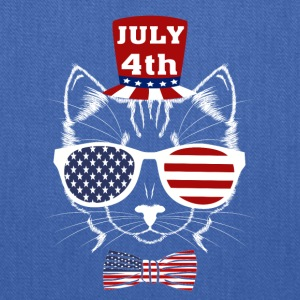 4th of July Meowica American Patriotic Funny Cat - Tote Bag