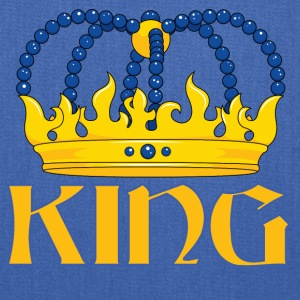 Yellow blue king crown - Tote Bag