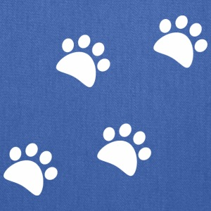 CAT_FOOTPRINTS_WHITE - Tote Bag