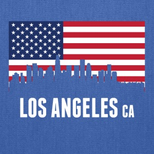 American Flag Los Angeles Skyline - Tote Bag
