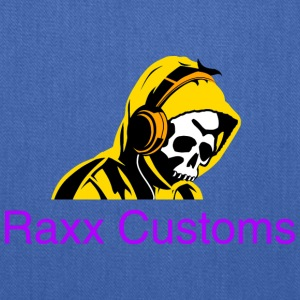 SKULL RAXX CUSTOMS logo yellow - Tote Bag