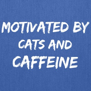 Motivated by cats and caffeine - Tote Bag