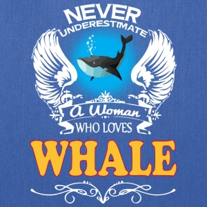 A Woman Who Love Whale - Tote Bag