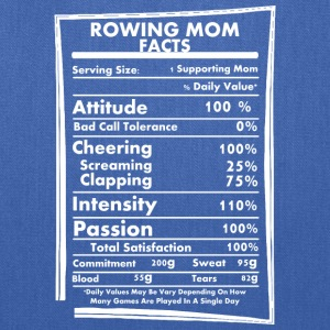 Rowing Mom Facts Daily Values May Be Vary - Tote Bag