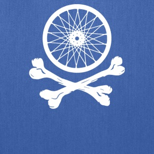 Bicycle Wheel Cross Bones - Tote Bag
