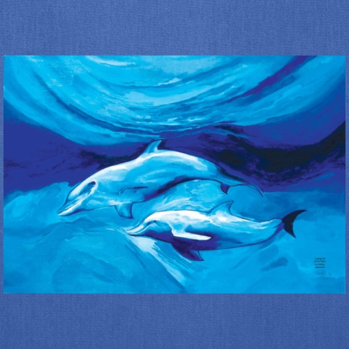 Two Dolphins. - Tote Bag