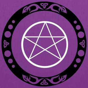 Big pentagram with trinity symbol. - Tote Bag