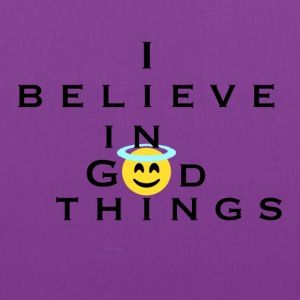 I Believe In God Things Smiley Design - Tote Bag