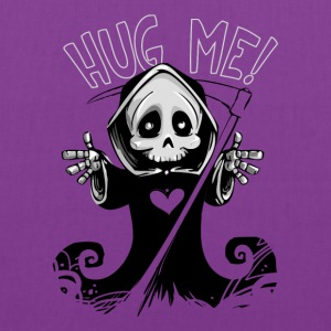 Cute Grim Reaper with Scythe Pointing - Free Hugs - Tote Bag
