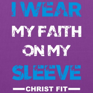 I wear my faith blue n white - Tote Bag