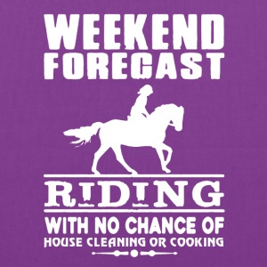 WEEKEND FORECAST RIDING TEE SHIRT - Tote Bag