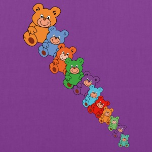 colorful teddy bears - Tote Bag