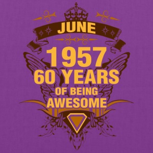 June 1957 60 Years of Being Awesome - Tote Bag