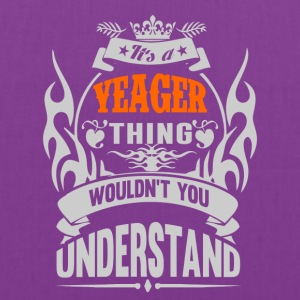 YEAGER THING TSHIRT - Tote Bag