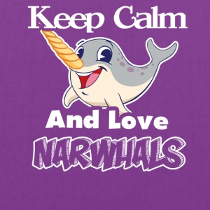 KEEP CALM AND LOVE NARWHAL TEE SHIRT - Tote Bag