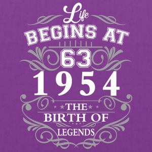 Life begins 63 1954 The birth of legends - Tote Bag