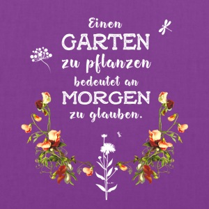 garden Garten german Slogan Love plant flower gree - Tote Bag