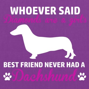 dachshund diamond design - Tote Bag