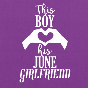 This Boy loves his June Girlfriend - Tote Bag