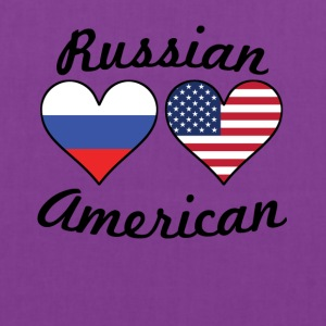 Russian American Flag Hearts - Tote Bag