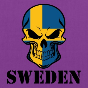 Swedish Flag Skull Sweden - Tote Bag