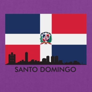 Santo Domingo Skyline Dominican Republic Flag - Tote Bag