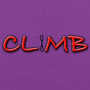 Climb Female and Male Climbing T-Shirt - Tote Bag