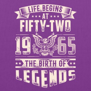 Life Begins At Fifty Two Tshirt - Tote Bag