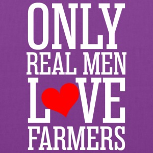 Only Real Men Love Farmers - Tote Bag