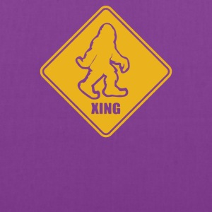 Big Foot Xing Big Foot Crossing Sasquatch - Tote Bag