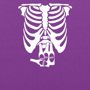 Beer Belly Xray Skeleton Funny - Tote Bag