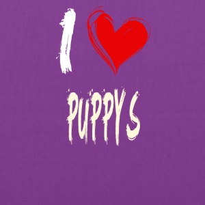 I love PUPPYS - Tote Bag