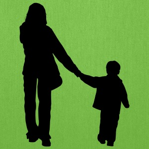 mother and son from back - Tote Bag