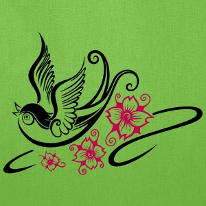 Tattoo swallow, spring time. - Tote Bag