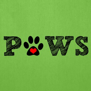 Paws animal graphic for dog and animal lovers. - Tote Bag