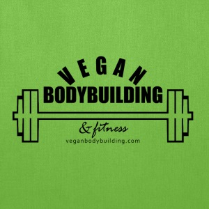 Vegan Bodybuilding & Fitness logo - Tote Bag