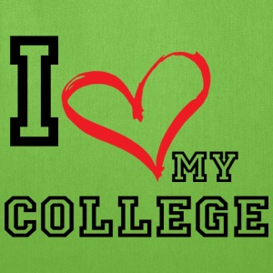I_LOVE_MY_COLLEGE- PLUS SIZE - Tote Bag
