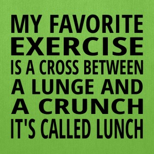 My Favorite Exercise Is Lunch - Tote Bag