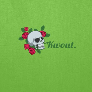 Flower Skull Kwout Design - Tote Bag