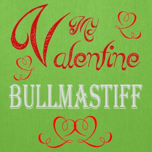 A romantic Valentine with my Bullmastiff - Tote Bag