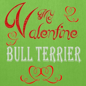 A romantic Valentine with my Bull Terrier - Tote Bag