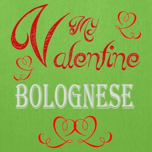 A romantic Valentine with my Bolognese - Tote Bag